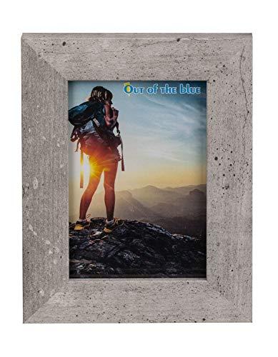 Out of the Blue 94/2628 - Holz Bilderrahmen Cement Optic, für Bilder im Format 10 x 15 cm