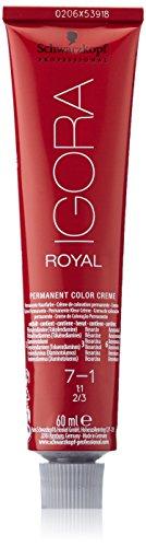 Schwarzkopf IGORA Royal Premium-Haarfarbe 7-1 mittelblond cendré, 1er Pack (1 x 60 g)