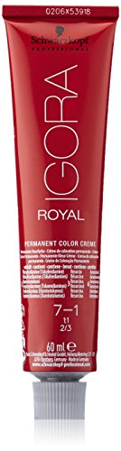 Schwarzkopf Igora Royal Tinte Permanente, Tono 7-1 - 60 ml