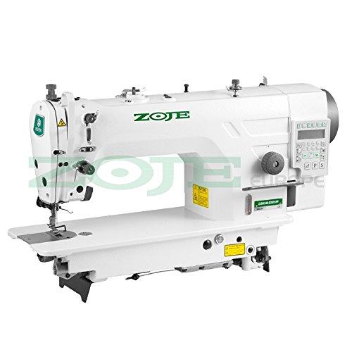 Máquina de coser industrial ZOJE – Máquina de coser – Transport – Totalmente automática, máquina de coser industrial – Completo – montado (con mesa y soporte)