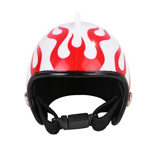 Balacoo Huhn Helm Haustier Hut Lustige Haustier Schutzausrüstung Sonne Regen Kopfbedeckung Spielzeug Kostüme Zubehör für Vogel Hühner Haustierzubehör (Flamme)