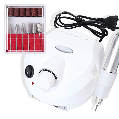 N/ A Nagel-Bohrgerät 30000rpm Professionelle Elektrische Maschine HM-Fräser Nagelhautentferner Für Die Nägel Polieren Maniküre-Set