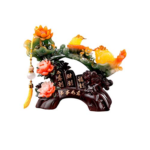 Estatuas Decorativas Feng shui dinero sapo frog animal tallado tótem suerte coin dinero suerte decoración del hogar regalo riqueza dinero sapo estatua feng shui decoración Salon Estatuas Decorativas