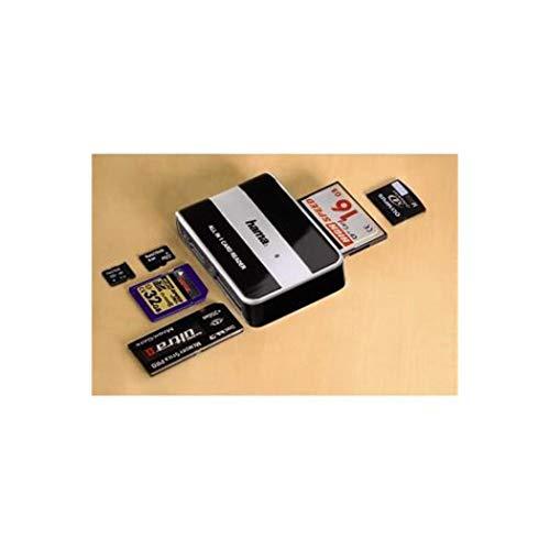 Hama USB-2.0-Kartenleser (All in 1, kompatibel auch mit Windows 10) schwarz/silber