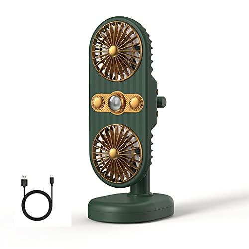 ZXMY Ventilador de cochín de Cabeza de Doble Cabeza Ventilador Personal portátil para el Cochecito del Cochecito del Cochecito de Cochecito de bebé Oficina de Viaje al Aire Libre Camping