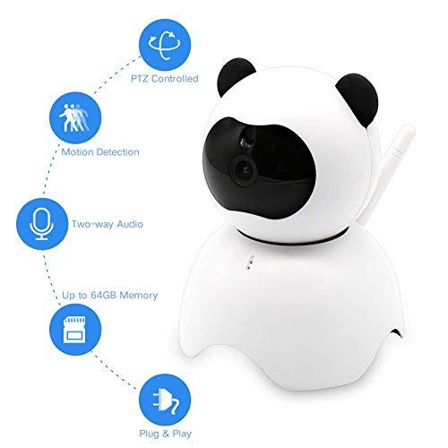 Baby Monitor - Huisdier Camera - Die verbinding maken met Two Way Audio, Nachtzicht, Bewegingsdetectie Waarschuwing Gratis Geef SD-kaart: 32G