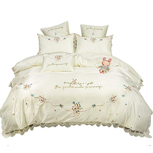 DYXYH Baumwolle Bettwäsche Set Stickerei Duvet Covers Klassik Bettbezug Set Couvre (Size : 2.0M)
