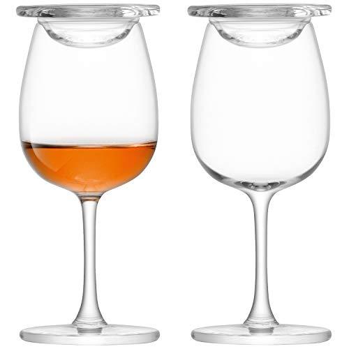 Islay LSA whisky Nosing glazen glas, 110 ml, set van 2, in geschenkdoos, whiskey verkostingsglas