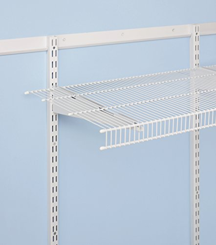 Rubbermaid FastTrack Pantry Kit, 4 Feet, White, Wire Closet Shelving for Pantry Storage and Organization System