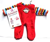 Unbekannt Schwenk Puppenkleidung, Nicki Overall rot mit Ringelstreifen, für ca. 20 - 22 cm Puppen