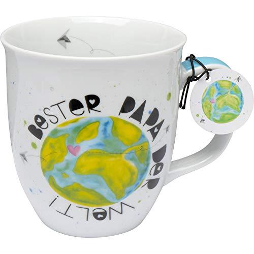GRUSS & CO 46893 Spruch Bester Papa der Welt, Porzellan, 40 cl Tasse