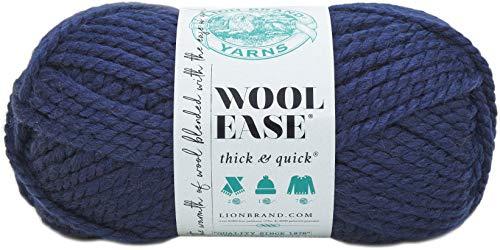 Lion Brand Yarn Company 640-110 Pelote de fils à tricoter, Bleu Marine