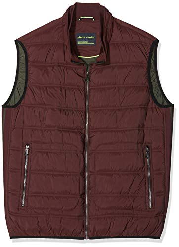 Pierre Cardin Herren Weste Techno Down Denim Acadmey Jacke, Rot (Wine 8104), Medium (Herstellergröße: 50)