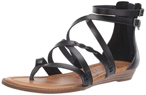 New Blowfish Women's Bungalow-B Sandal Black Dyecut 7.5