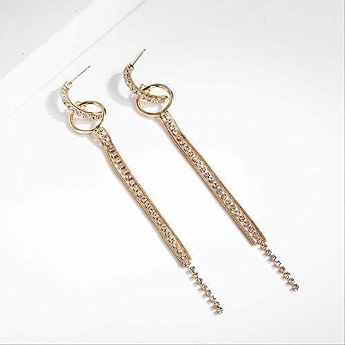 Womens oorbellen sets hoepels vintage kwastje kristallen oorbellen voor vrouwen bohemien lange ketting oorbellen drop earing moderne vrouwelijke sieradenez109jinse