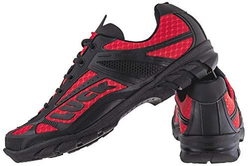 LUCK Zapatillas de Ciclismo Predator 18.0,con Suela de EVA Ideal para Poder adaptarte a Cualquier Terreno y disciplina Deportiva. (41 EU, Rojo)