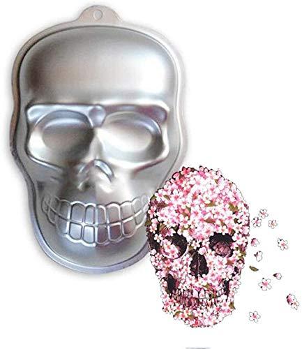Totenkopf-Kuchenform, Halloween-Party, Totenkopf-Form, Aluminium, 3D-Kuchenform, DIY-Totenkopf-Kuchenform, Fudge Kuchenform, Creme-Kuchenform