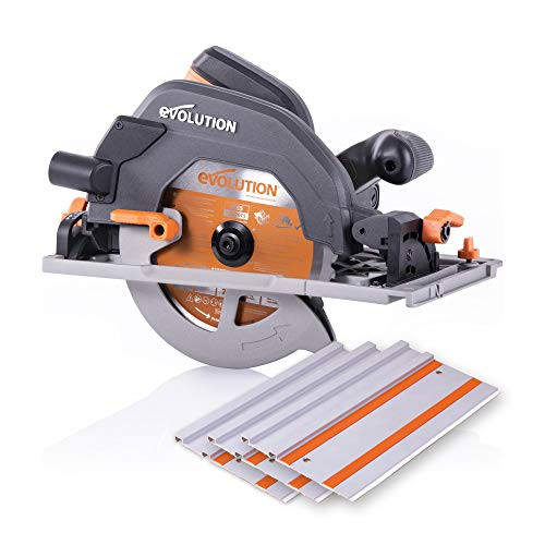 "Evolution Power Tools R185CCSX 7-1/4"" Multi-Material Circular Track Saw Kit w/ 40"" Track"