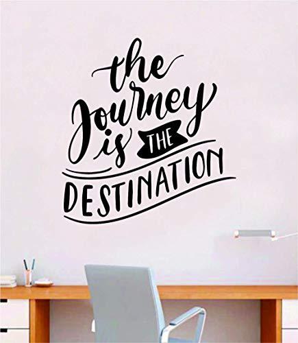 Die Reise ist der Bestimmungsort Wandtattoo Vinylkunst Schlafzimmer Raumdekoration Teen Zitat inspirierende junge Mädchen Wandern Natur schöne Abenteuer Zelt erkunden Schulferien Obdachlosen reisen