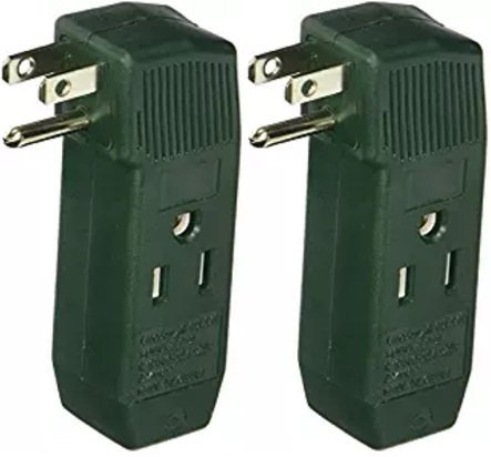 IIT vertical wall tap 3-outlet adapter - UL listed (2 Pack)