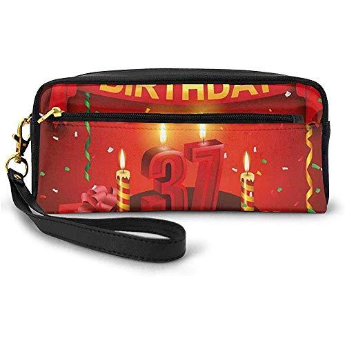 Schokoladenkuchen-Geschenk-Ballon-Flaggen-Nette Ikonen-Kerzen Artsy Bild-kleine Make-uptasche mit Reißverschluss-Bleistift-Kasten 20cm * 5.5cm * 8.5cm