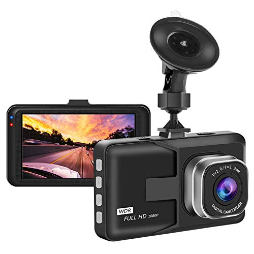"Aigoss Dash Cam Video Camera Recorder for Cars, 1080P Full HD 3"" LCD Screen Driving Recorder with Wide Angle& Super Night Vision, Support G-Sensor/Parking Monitor/Loop Recording/Motion Detection"