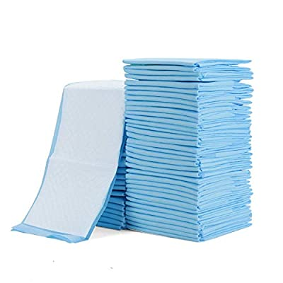 Rocinha 100 Pack Disposable Changing Pads Baby Disposable Underpads Waterproof Diaper Changing Pad Breathable Underpads Bed Table Protector Mat, 17 Inches x 13 Inches