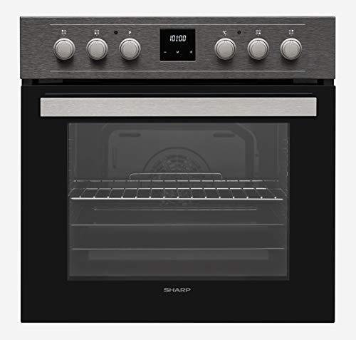 Sharp Juego de cocina empotrable, color negro, modelo K-62DX19AM1-EU