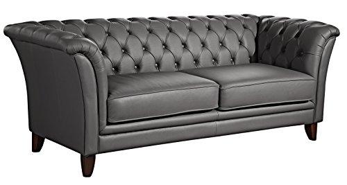 Max Winzer Sofa Norfolk | 2-sitzer  | Aus Leder in Graphitfarben