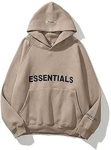 OMCCXO Pullover Unisex Essentials Hoodie Sweatshirts Loose Normal Paint Men Trendy Hip Hop Heavyweight Plus Size Long Sleeve Pullover Crew Neck Top