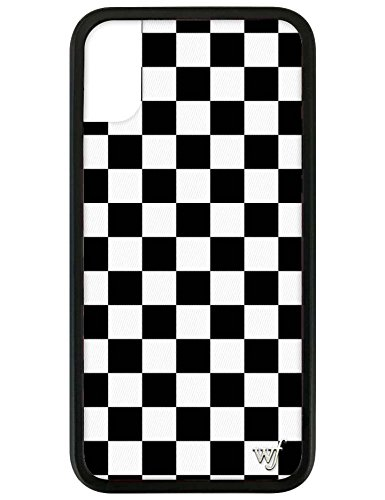 Wildflower Limited Edition Cases for iPhone X and XS (White & Black Checkered)