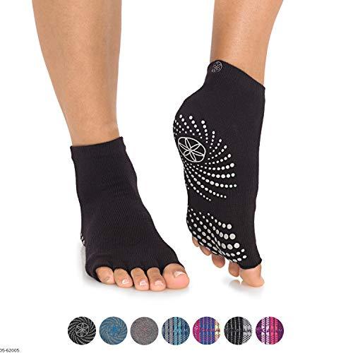 Gaiam Grippy Toeless Yoga Socks Small/Medium Granite Storm