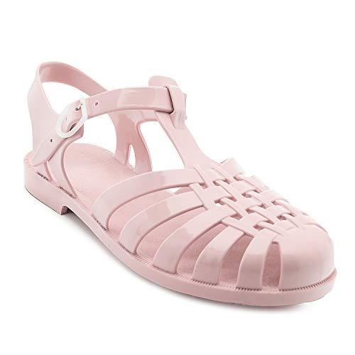 Sandalias de Goma Unisex para Mujeres, Hombres y niños - Sandalias de plástico para Piscina y Playa - AM188 - Rosa - EU 38