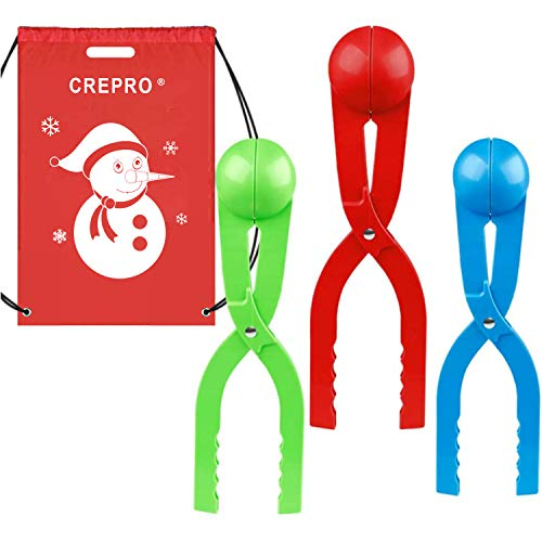 CREPRO 3-Pack Snowball Makers Snow Toys for Kids Outdoor Winter Perfect Snowballs Maker Shape