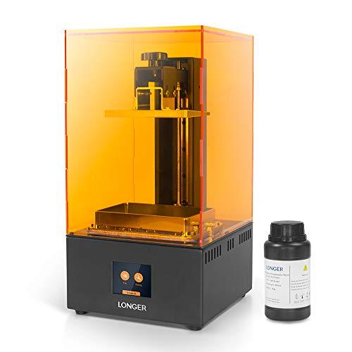 LONGER Orange 30 Imprimante 3D, Imprimante 3D en Résine avec Écran Tactile, Écran LCD, Résolution 2k, LED UV Parallèles, Taille Plus Grande Imprimée 12cm(L) x6.8cm(L) x17cm(H) avec 250g de Résine