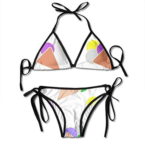 Hipiyoled Frauen nahtloses EIS mit Farbe zweiteiligen Frauen Riemchen Push-up hoch taillierte Bandage Bikini-Sets