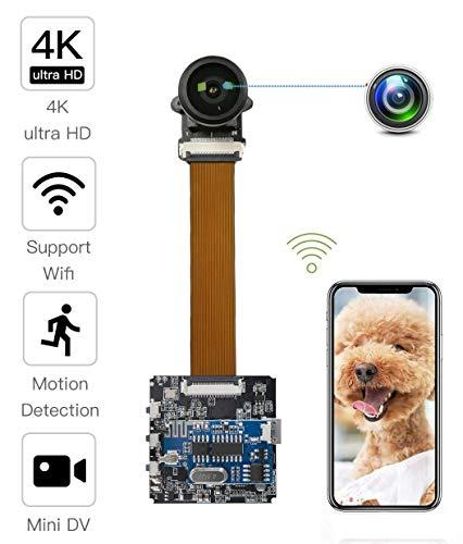 4k 120° Wide Angle Lens Super HD WiFi Mini Kamera,Tragbare Kleine Wireless Überwachungskamera, Mikro Nanny Cam mit Bewegungserkennung Compact Sicherheit Kamera für Innen und Aussen