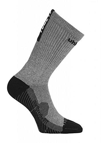 uhlsport Herren Tube IT Socks, Dark Grey Melange/Schwarz, 37-40