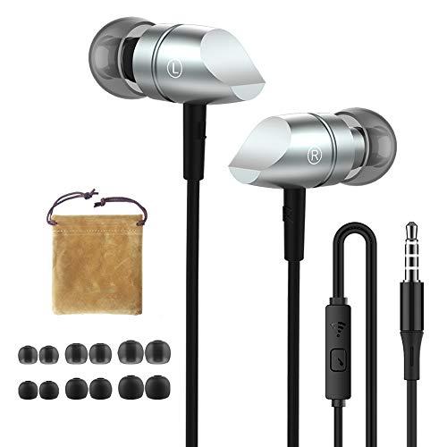 HIFI WALKER S02 Auriculares con Micrófono, Conector de 3,5mm, Auriculares con Cable, Bolsa de Transporte