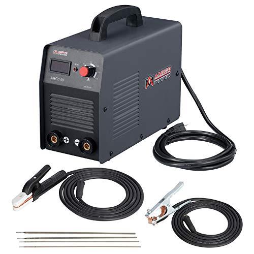 Amico ARC-140, 140 Amp Stick ARC DC Inverter Welder, IGBT Digital Display LCD 110-Volt Welding Soldering Machine, ARC-140