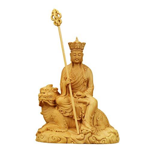Figurine,Statue,Statuette,Sculture,Budda,Foglio Illustrativo Bosso Diwangwang Statua Del Buddha Decorazione Sculture Di Legno Per Giocare Con Ornamenti Zen Per Soggiorno Camera Da Letto Libreria Deskt