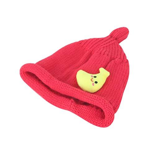 FENICAL Gorro de bebé Gorro para niños Invierno cálido Gorro de Punto Infantil Calavera Sombrero para recién Nacido niño protección (Rosado)