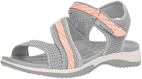 Dr. Scholl's Shoes Women's Daydream Slide Sandal, Frost Grey mesh, 11 M US