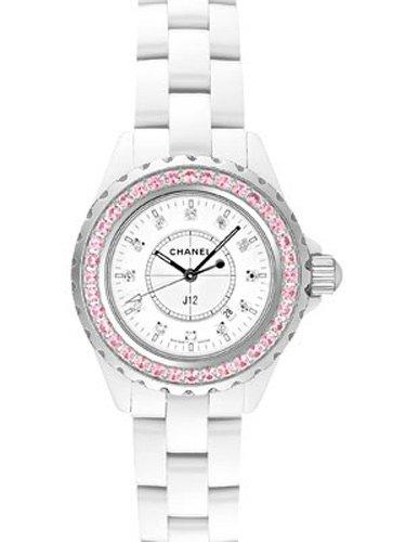 [シャネル] CHANEL 腕時計 J12 H2010 ホワイト ピンクサファイアベゼル レディース [並行輸入品]