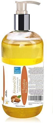 Mandelöl kaltgepresst 100 % Natürlich 500 ml ● Ideales Hautpflege-Öl für alle Hauttypen