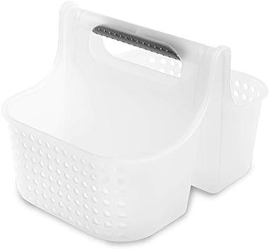 Madesmart Bolsa pequeña de Agarre Suave – Frost, Gris, colección de baño, 2 Compartimentos, asa Gruesa para Mayor Comodidad,