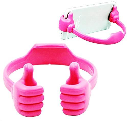 Desktop-smartphonestandaard - bureau - telefoonhouder - horloge zittend - universeel - roze - compatibel met alle mobiele telefoons - origineel cadeau-idee - goedkoop