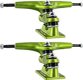 Gullwing Trucks Sidewinder II Lime Green Skateboard Double Kingpin Trucks - 159mm Hanger 9