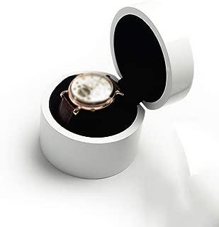 Ping Bu Qing Yun Watch Box - Wooden Glass Sunroof Watch Box Jewelry Bracelet Box Storage Box Retro Eight Grid Watch Display Box Watch Box (Color : White)