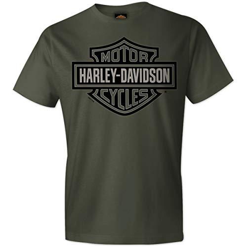 Harley-Davidson Military - Men's Fatigue 100% Cotton Graphic Short-Sleeve T-Shirt - RAF Lakenheath | Bar & Shield 2X